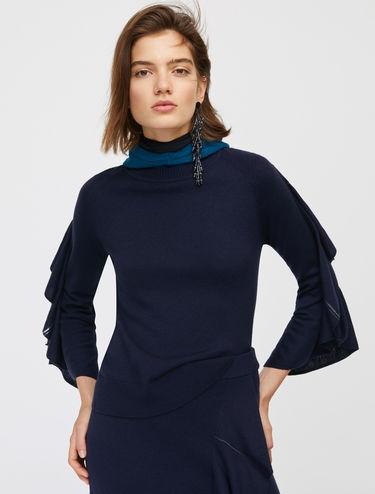 Jumper with flounce sleeves