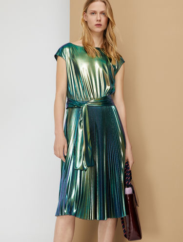Pleated laminated dress