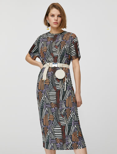 Printed jersey T-shirt dress