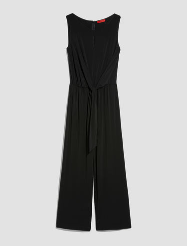 Draped jumpsuit with knot