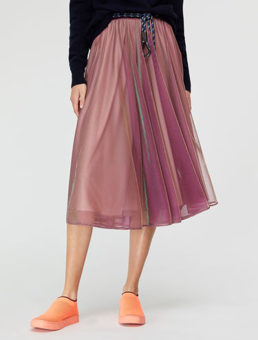 Iridescent tulle full circle skirt