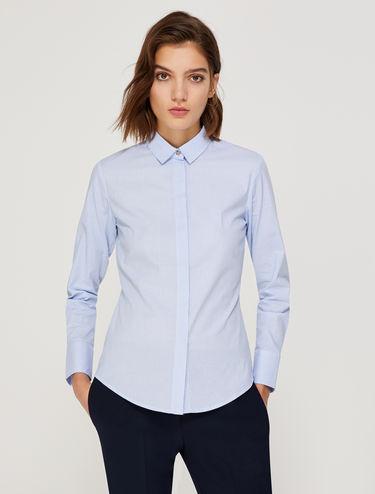 Slim-Fit-Bluse aus Popeline