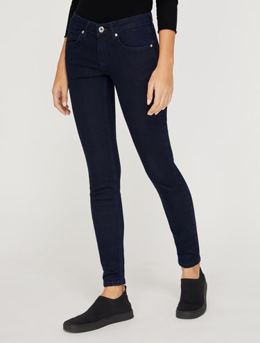 Blue skinny-fit jeans