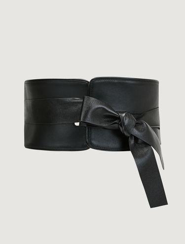 Cintura alta di pelle