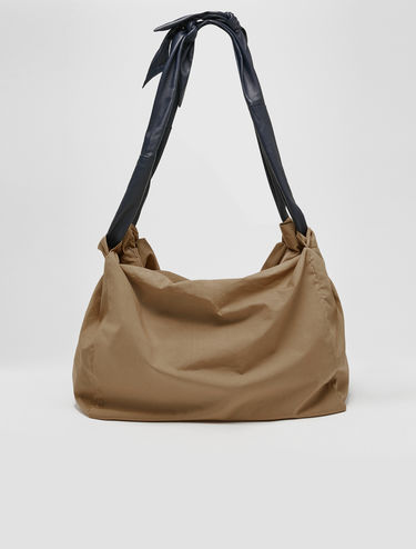 CHUTE bag in cotton and nappa leather