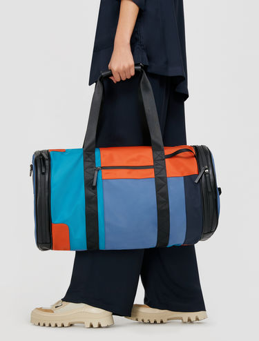 Techno satin weekender bag