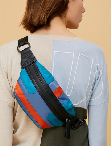 Techno satin belt bag