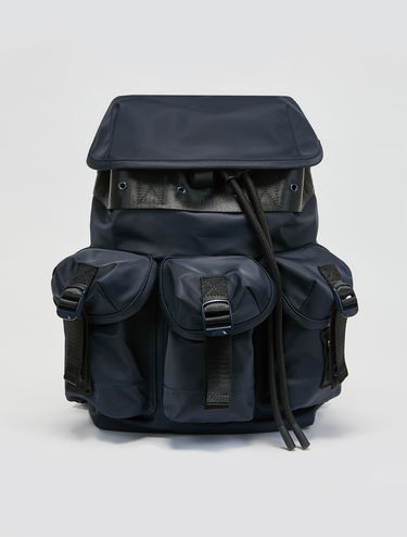 Techno satin backpack