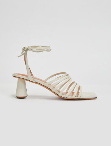 Column heel strappy sandals