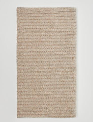 Poncho in maglia a coste