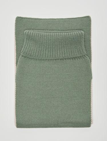 Cagoule reversibile in maglia tricot