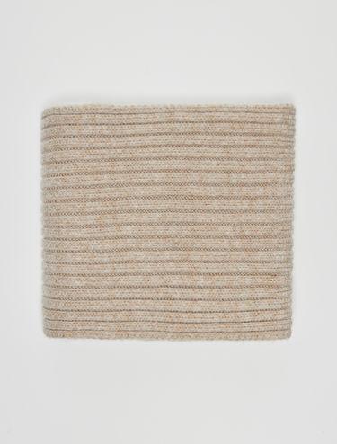 Sciarpa in maglia a coste