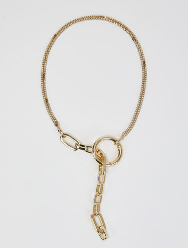 Necklace with ring and chain