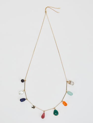 Necklace with natural stones