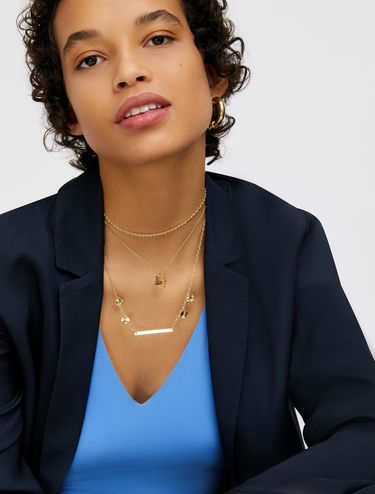 Thin necklaces with charms