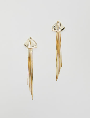 Earrings with maxi fringes