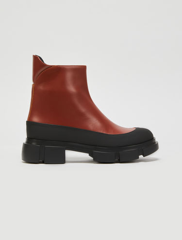 Two-tone leather boots