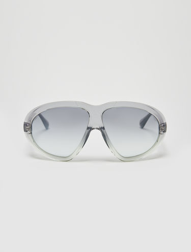 Iridescent aviator sunglasses