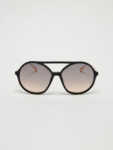 Double bridge aviator glasses
