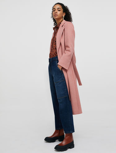 Long Run coat in pure wool