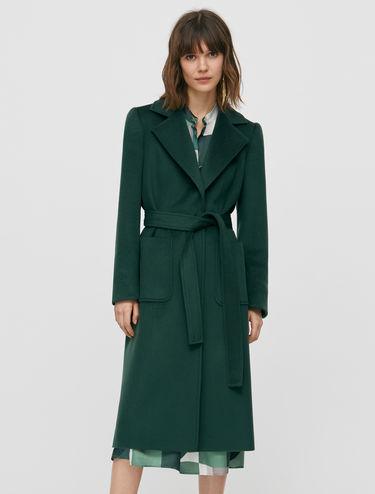 [ラナウェイ] ベルト ウール コート