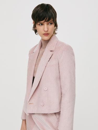 Cropped corduroy blazer
