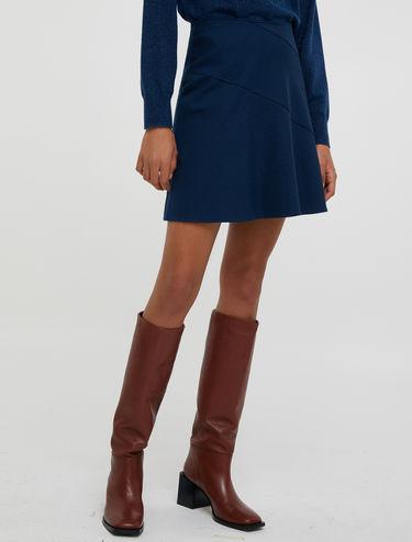 Mini-jupe trapèze