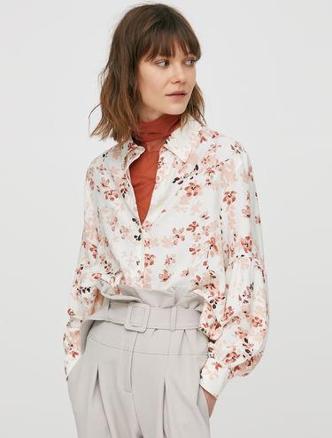 Floral print sablé shirt
