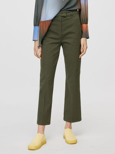 Gabardine cigarette trousers