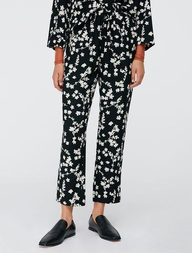 Floral sablé trousers