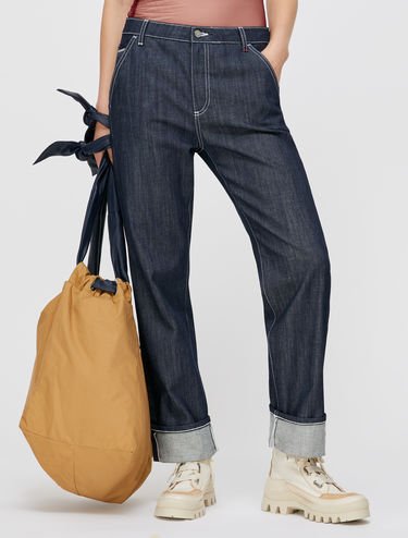 Straight-Fit Jeans mit Webkante