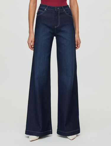 Flare-fit organic jeans