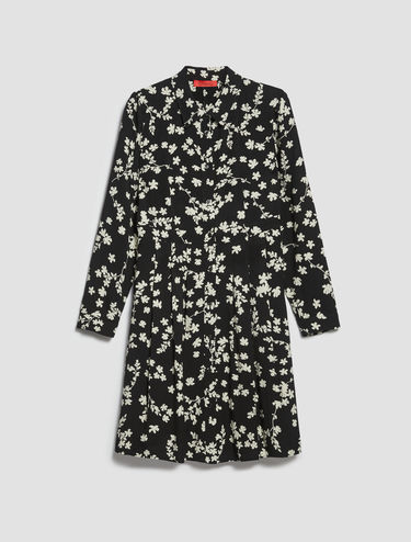 Floral sablé shirt dress