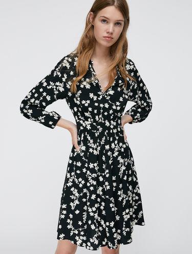 Floral sablé dress
