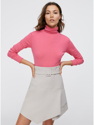 Slim polo neck jumper