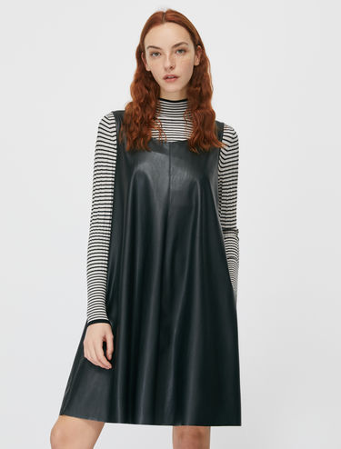 Coated jersey dress
