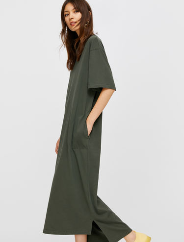 Maxi cotton T-shirt dress