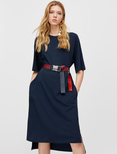 Midi cotton T-shirt dress