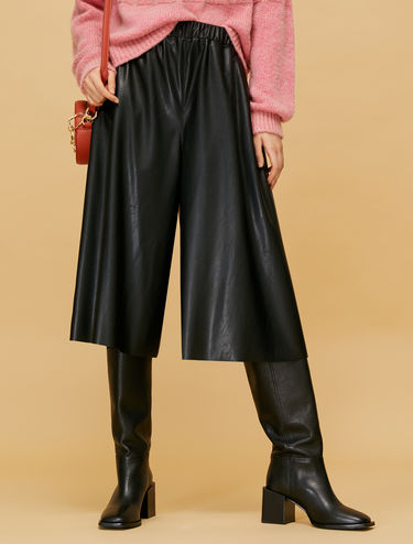 Culottes in coated jersey