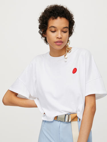 "T-shirt with ""dot"" appliqué"