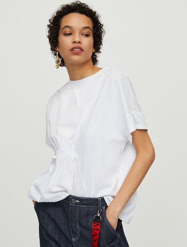 Camiseta de punto y popelina