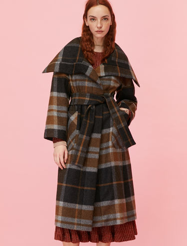 Check wrap coat
