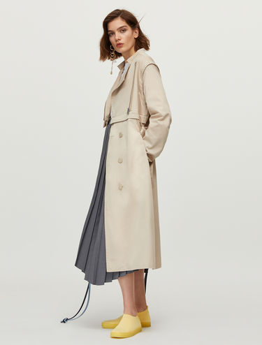 Trench-coat en coton technique
