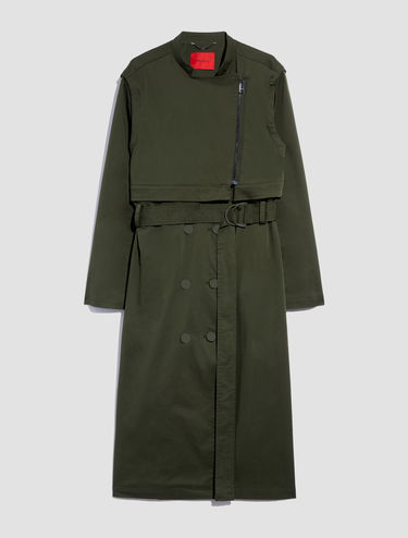 Trenchcoat aus Techno-Cotton