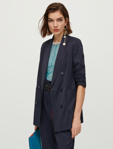 Gabardine double-breasted blazer