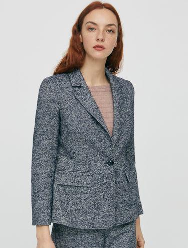Bouclé tweed blazer