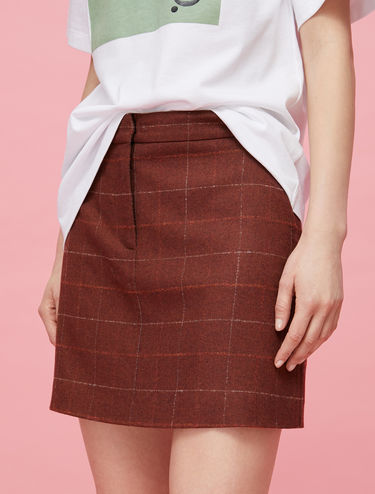 Flannel mini skirt