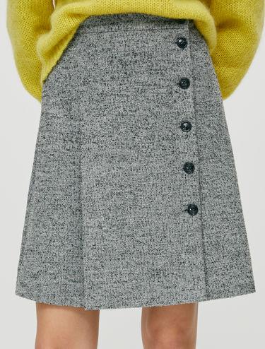 Jupe en tweed bouclé