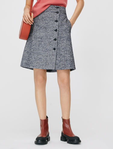 Bouclé tweed skirt