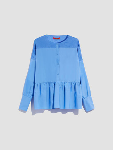 Poplin and chiffon blouse